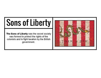 U.S. History: Revolution Vocabulary Word Wall