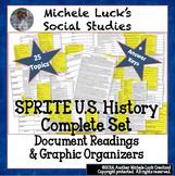 U.S. History SPRITE Reading Writing & Social Studies Great