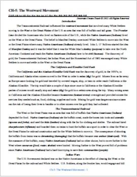 U.S. History STAAR Chapter Bundle Ch-5: The Westward Movement