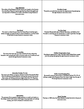 U.S. History STAAR Flash Cards Ch-19: The Great Depression 1930