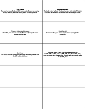 U.S. History STAAR Flash Cards Ch-23: The Sixties-Minority Movements