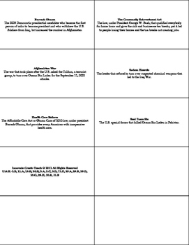 U.S. History STAAR Flash Cards Ch-26: United States 2000