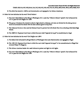 U.S. History STAAR Quiz Ch-22: The Civil Rights Movement