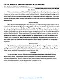 U.S. History STAAR Reader Ch-15: Realism in American Literature & Art 1865-1900
