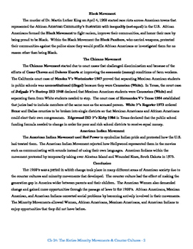 U.S. History STAAR Reader Ch-23: The Sixties-Minority Movements & Counter Cultur