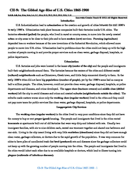 U.S. History STAAR Reader Ch-9: The Gilded Age-Rise of U.S