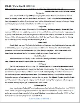 U.S. History STAAR Unit Bundle Ch-20,21,22,23.