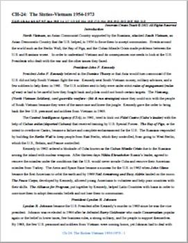 U.S. History STARR Chapter Bundle Ch-24: The Sixties-Vietnam 1954-1973