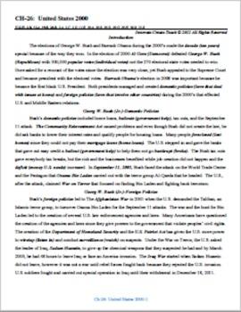 U.S. History STARR Chapter Bundle Ch-26: United States 2000