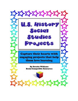 U.S. History Social Studies Projects Bundle, including 7 different projects