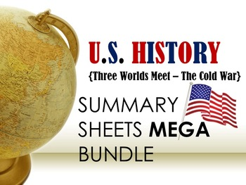 U.S. History Summary Sheets MEGA Bundle