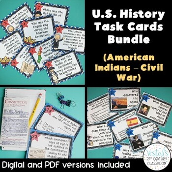 U.S. History Task Cards Bundle