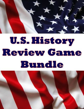 House of History - Test Prep Activity / Review Game Bundle - Differentiated!