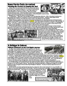 U.S. History - The Civil Rights Movement (Unit Booklet)