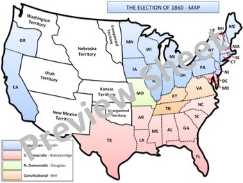 U.S. History - The Civil War - The Election of 1860