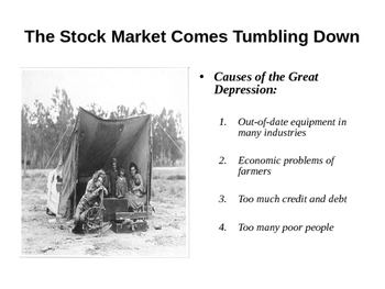 The Great Depression PowerPoint Notes