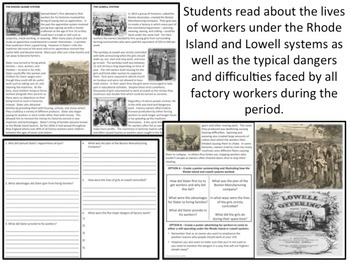 U.S. History - The North - Rhode Island & Lowell Systems
