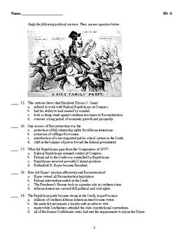 U.S. History - The Reconstruction Era Test (1865-1877)