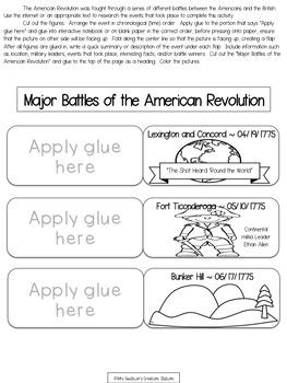 U.S. History - The Revolutionary Era Interactive Social Studies Unit