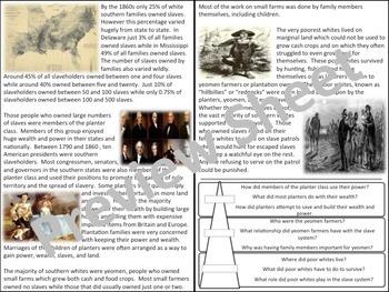 U.S. History - The South - Planters, Yeomen, & Poor Whites