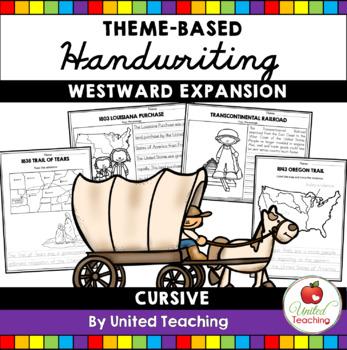 U.S History Theme Based Handwriting Lessons Growing Bundle (Cursive Edition)
