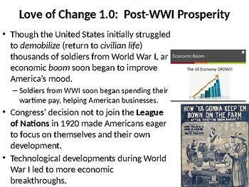 U.S. History Unit 4:  The Roaring Twenties (1920-1929)