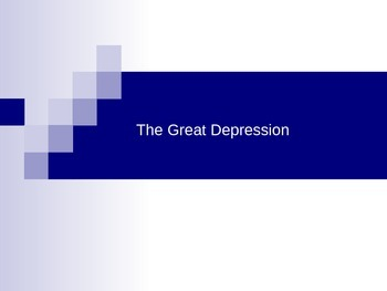 U S History Unit- The Great Depression