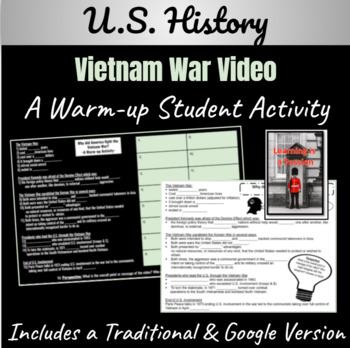 U.S. History: Vietnam War ~A Video Activity~