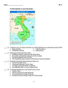 U.S. History - Vietnam War Years Test (1954-1975)