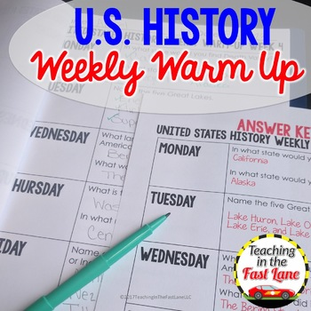 U.S. History Weekly Warm Up Daily Review