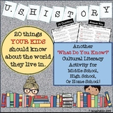 U.S. History - What Do You Know?