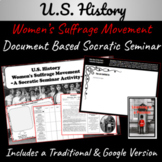 U.S. History: Women's Suffrage   A Socratic Seminar Activi
