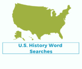 U.S. History Word Searches (10 total)