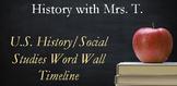 U.S. History Social Studies Word Wall Timeline