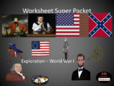 U.S. History Worksheet Super Packet