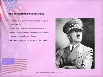 U. S. History World War II Power point presentation