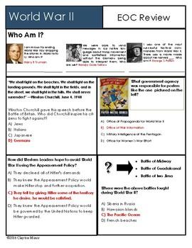 U S History World War II Review