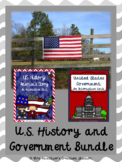 U.S. History and Government Interactive Social Studies BUNDLE
