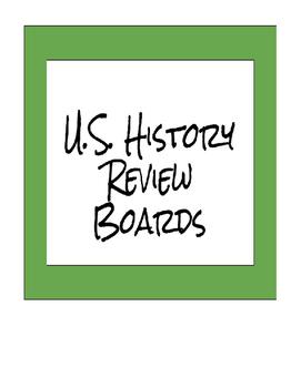 U.S. History choice boards