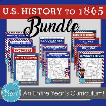 U.S. History to 1865 Bundle- Full Year of Units
