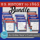 U.S. History to 1865 Bundle- Full Year of Units