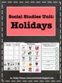 U.S. Holidays: Social Studies Unit for Kids with Autism