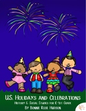 U.S. Holidays and Celebrations (Plus Easel Activity)