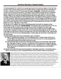 U.S. Imperialism Introductory Guided Reading with Primary Source!