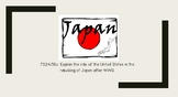 U.S. Involvement in Japan Notes/PPT
