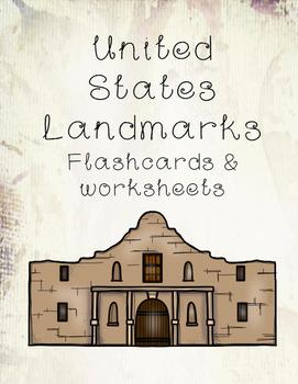 U.S. Landmarks Flashcards and Worksheets