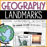 U.S. Landmarks Interactive Notebook and Activities