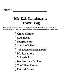 U.S. Landmarks List & Research Form