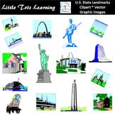 U.S. State Landmarks Clip Art