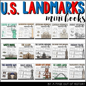U.S. Landmarks Mini-Books BUNDLE!